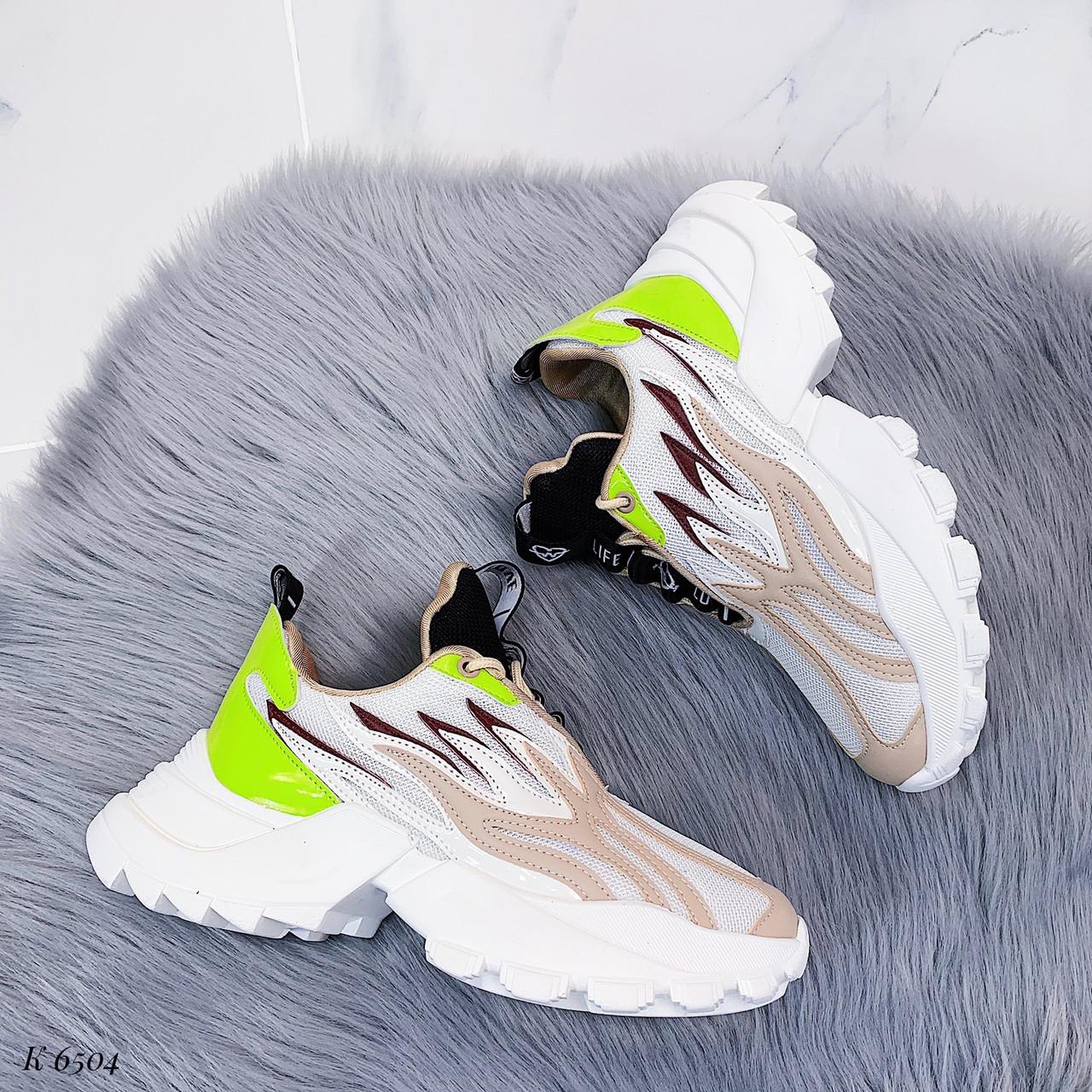 Женские кроссовки комбинированного цвета, из текстиля/эко кожи 36 ПОСЛЕДНИЕ РАЗМЕРЫ