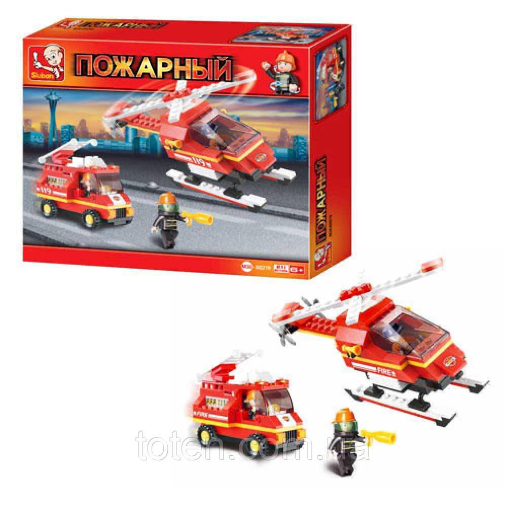 Конструктор SLUBAN M38-B0219 пожарные спасатели, вертолет, 211 дет 12