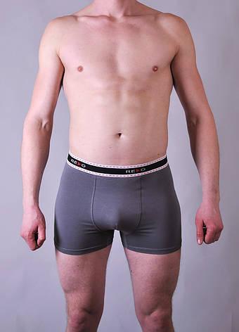 Мужские трусы - боксеры Redo  #1425 3XL серые, фото 2