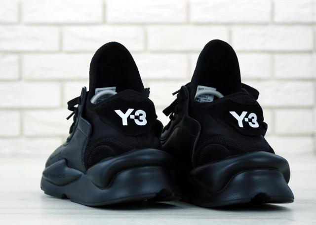 Мужские кроссовки Adidas Y-3 Kaiwa черного цвета