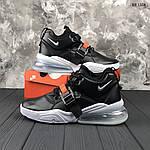 Мужские кроссовки Nike Air Force 270 (черные) 1358, фото 4
