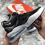 Мужские кроссовки Nike Air Force 270 (черные) 1358, фото 6