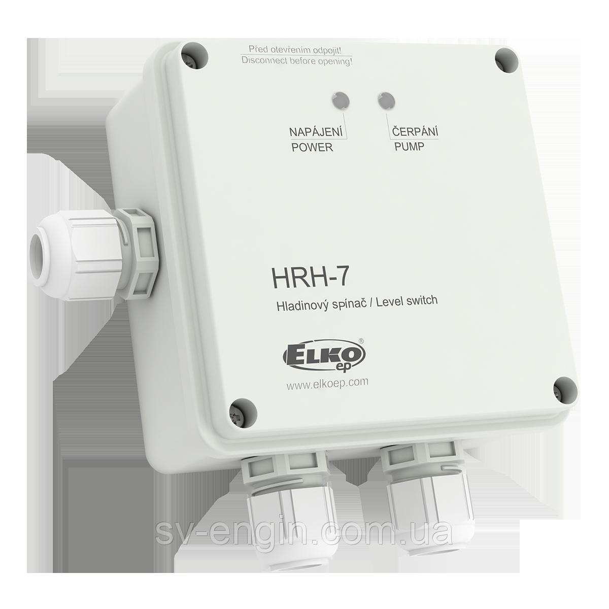 HRH-7 — контроллер уровня жидкости cо степенью защиты IP65 и универсальным питанием (сигнализатор уровня)