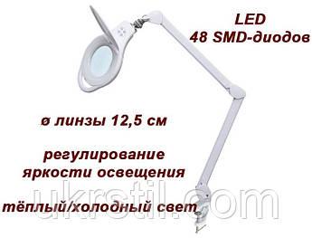 Лампа-лупа 8060 LED (3-5D) с регулировкой яркости