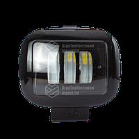 Фара LED прямокутна чорна 30W, 3 лампи, 10/30V 6000K товщина: 65 мм