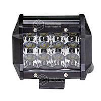Фара LED прямокутна 36W, 12 ламп, 10/30V 6000K товщина: 65 мм