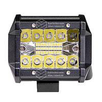 Фара LED прямокутна 60W, 20 ламп, 10/30V 6000K довжина: 98 мм, товщина: 65 мм