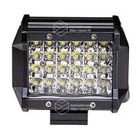 Фара LED прямокутна 72W, 24 ламп, 10/30V 6000K довжина: 98 мм, товщина: 65 мм