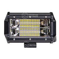 Фара LED прямокутна 72W, 24 ламп, 10/30V 6000K довжина: 133 мм, товщина: 65 мм