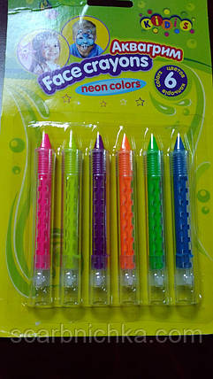 Краски аква грим, карандаши 6цветов №7765, фото 2
