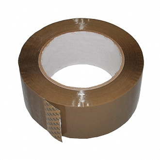 Лента клейкая упаковочная 48 мм  100 коричневая