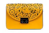Итальянская женская сумка из натуральной кожи. Цвет: Песочный, фото 1