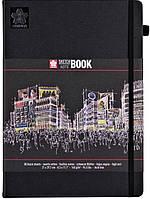 Блокнот Sakura Sketch, 140 г/м2, 21х29,7 см, 80 л, чорний папір, Sakura 94141005
