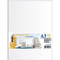 Папір акварельний A3 10 аркушів в п/п пакеті (200г/м2) ПА3110Е