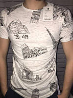 Мужская летняя футболка с принтом молодежная