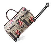 Каркасная дорожная сумка на колесах и с выдвижной ручкой, фото 2