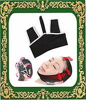 Тканевой бандаж для коррекции овала лица (второй подбородок, щеки).