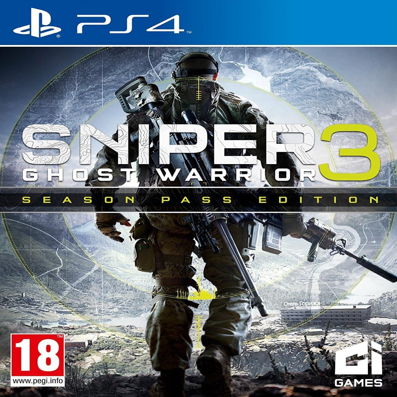Sniper Ghost Warrior 3 + Season Pass (російські субтитри) PS4