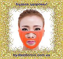 Тканинна маска-бандаж для корекції овалу обличчя (щоки, носогубні складки).