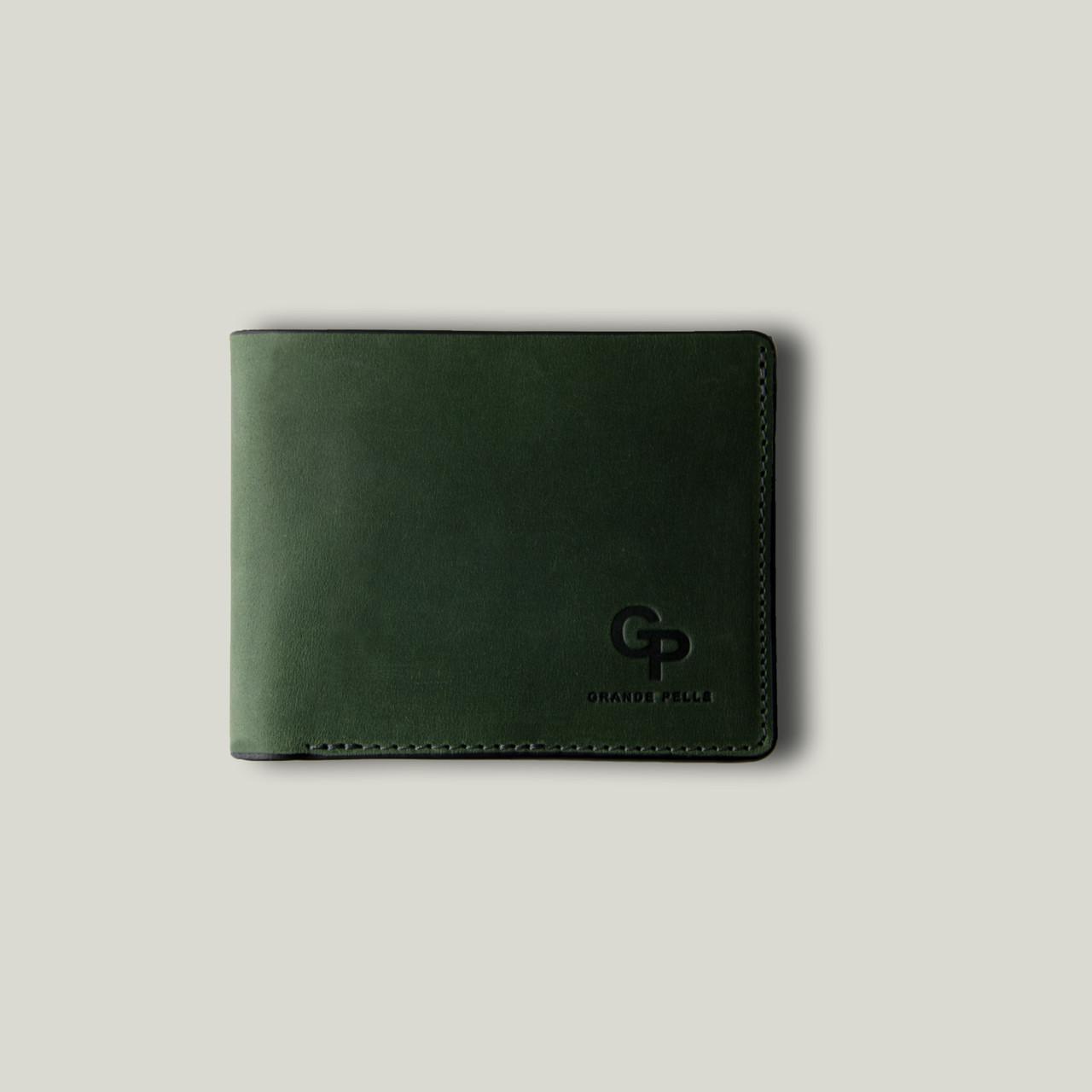 Портмоне Магнит, матовый зеленый