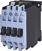 Контактор силовой ETI CES 12.10 12А 230V AC 3NO+1NO 5.5kW 4646522 (на DIN-рейку, 25A AC1, 12A AC3)