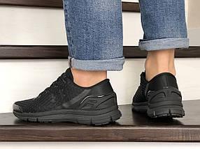 Мужские кроссовки сетка черные демисезонные 15\8972, фото 2