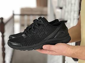 Мужские кроссовки сетка черные демисезонные 15\8972, фото 3