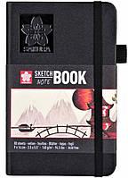 Блокнот Sakura Sketch, 140 г/м2, 9х14 см, 80 л, кремово-білий папір, Sakura 94140001