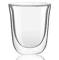 Большой стеклянный стакан с двойными стенками Тюльпан Helios 250 мл (6741)