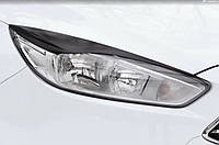 Накладки на передні фари (війки) Ford Focus III 2014- (рестайлинг)