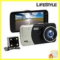 Видеорегистратор автомобильный DVR CT503 1080P с двумя камерами + Подарок!