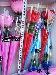 Розовая роза мыло- подарок на 8 марта. Пахучая розочка мыло. Сувенир роза-мыло.