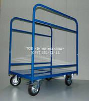 Тележка грузовая для перевозки ДСП, панелей, стекла  900х600х1000\160 2дуги.