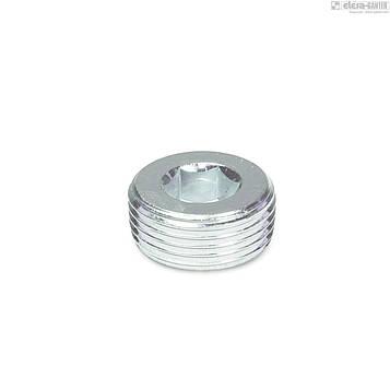 """Резьбовая заглушка с шестиграным гнездом дюймовая DIN 906 1/8"""" (Цинк) 1 шт"""