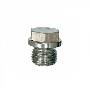 """Резьбовая заглушка с буртом с шестигранной головкой дюймовая DIN 910 3/8"""" (латунь) 1 шт"""