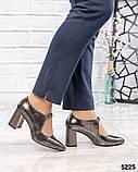 Туфли женские с ремешком серебристые, фото 3