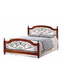 Кровать двухспальная Топ Мебель AT-9156 160х200 см орех