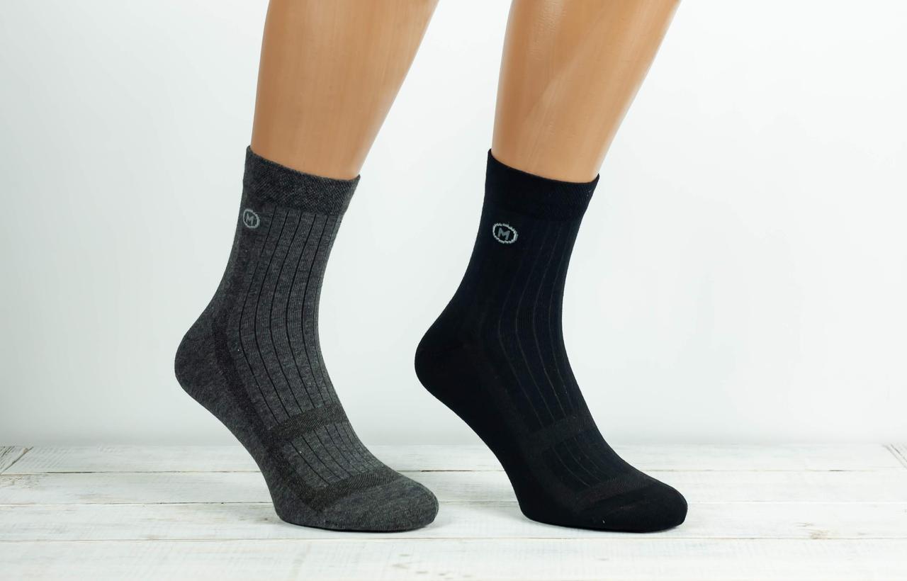Чоловічі носки бавовна шкарпетки Montebello в сітку 200 ниток безшовні однотонні. 12 шт в уп мікс 4 кольорів
