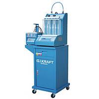 Стенд для промивки форсунок (6 форсунок, візок, УЗ-ванна з таймером) G. I. KRAFT GI19113