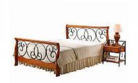 Кровать двухспальная Топ Мебель AT-9066 160х200 см орех