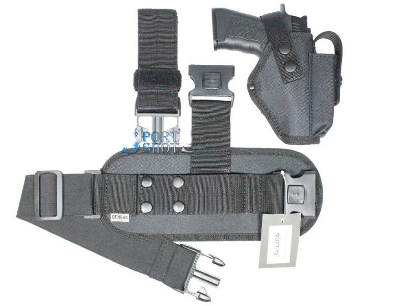 Набедренная кобура с чехлом под запасной магазин для пистолета Форт-14 с платформой, разборная