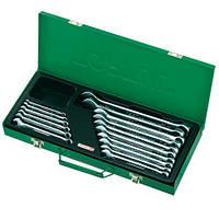 Набор ключей рожково-накидных TOPTUL 16 шт. 6-24мм (кейс) GAAD1602