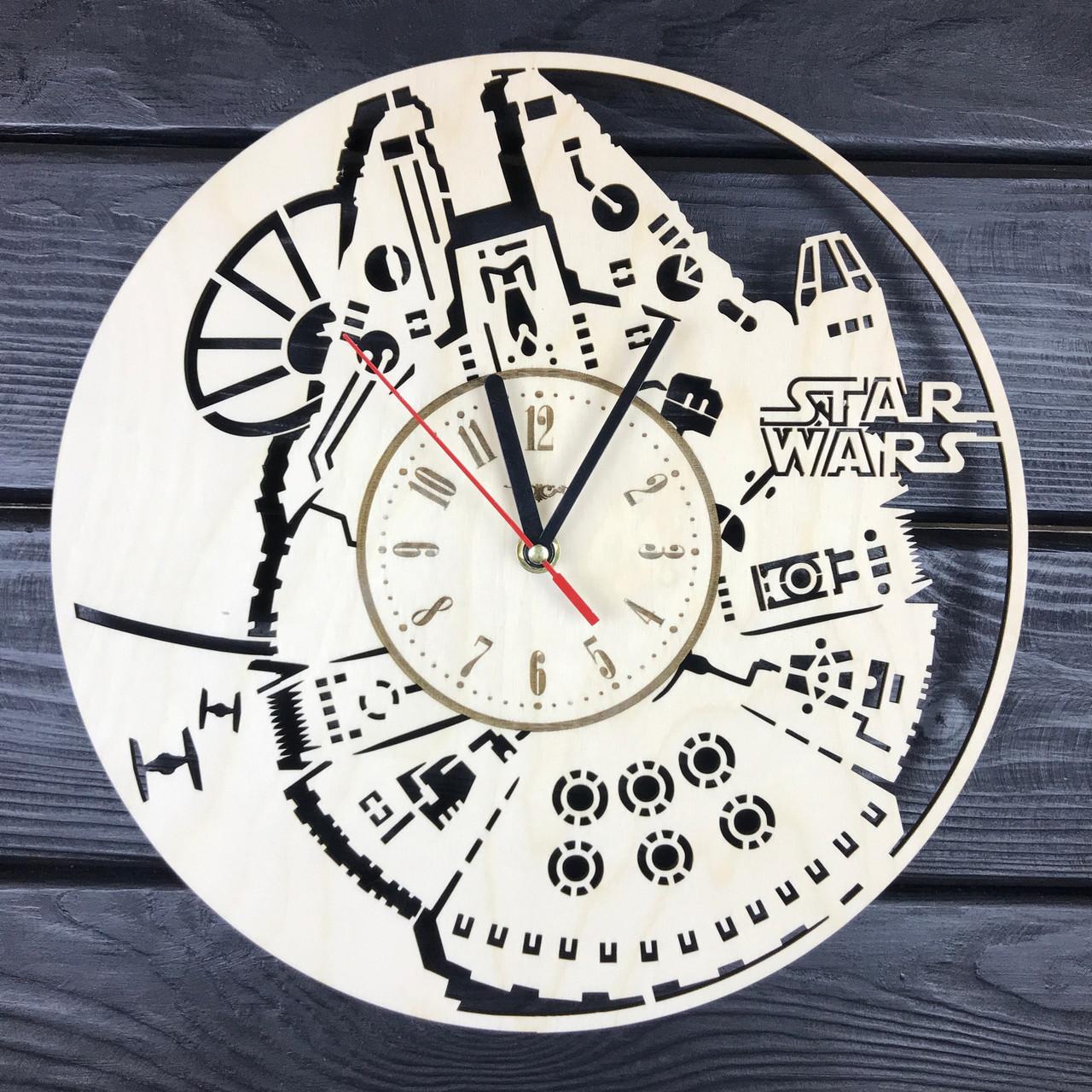 Настенные часы из натурального дерева «Тысячелетний Сокол»