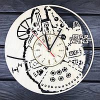 Настенные часы из натурального дерева «Тысячелетний Сокол», фото 1