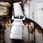 Чоловічі кросівки Nike Air Force 1 07 Mid LV8 (біло-чорні) 1365, фото 3