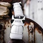 Мужские кроссовки Nike Air Force 1 07 Mid LV8 (бело-черные) 1365, фото 3