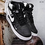 Мужские кроссовки Nike Air Force 1 07 Mid LV8 (бело-черные) 1365, фото 2