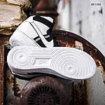 Мужские кроссовки Nike Air Force 1 07 Mid LV8 (бело-черные) 1365, фото 4