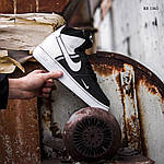 Чоловічі кросівки Nike Air Force 1 07 Mid LV8 (біло-чорні) 1365, фото 5
