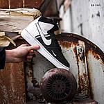 Мужские кроссовки Nike Air Force 1 07 Mid LV8 (бело-черные) 1365, фото 5